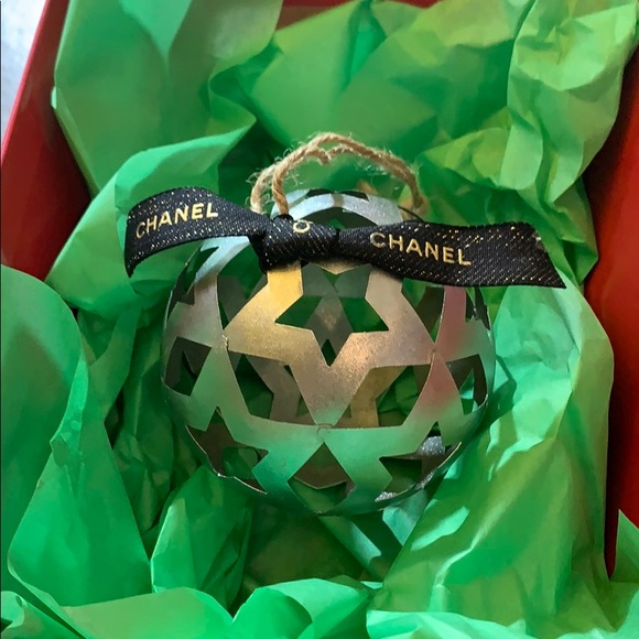 Christmas ornament with Chanel accent